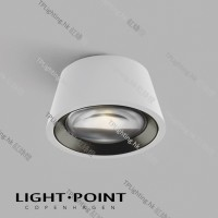 light point optic out white black lamp