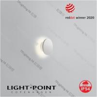 light point soho w1 white wall lamp ip54