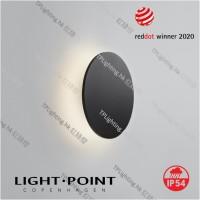 light point soho w3 black wall lamp ip54