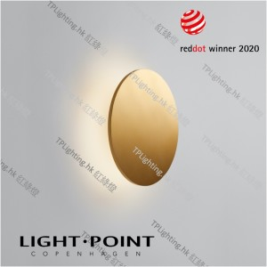 light point soho w3 gold wall lamp reddot 2020
