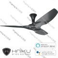 haiku 52 black short mount black aluminium no light ceiling fan