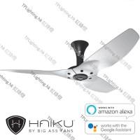 haiku 52 black short mount brushed aluminium no light ceiling fan