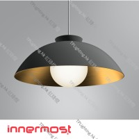 innermost chelsea 56 black gold pendant light