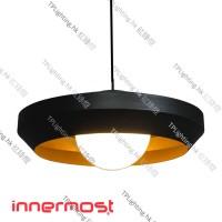 innermost hoxton 50 black gold pendant light