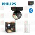 philips-hue-buckram-single-spot-black-1x5-5w-230v-white-ambiance-bluetooth-dimmer-included-tplighting