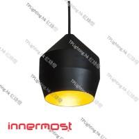 innermost hoxton 17 black gold pendant light
