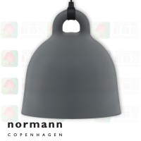 normann copenhagen bell grey large pendant lamp