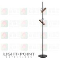 light point spirit f1 rose gold led floor light