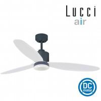 climate 2 Charcoal motor white radar blades ceiling fan 9w led light
