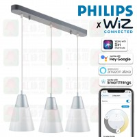 philips cl301 white 3 pendant light wiz a60 e27