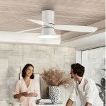 lucci air dc ceiling fan 210661 flusso white white low profile 風扇燈 fb