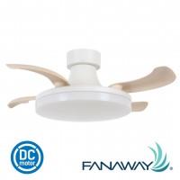 21664 fanaway orbit dc ceiling fan white oak 風扇燈 吊扇燈