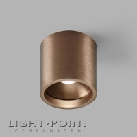 Light point solo 2 round led ceiling spot rose gold