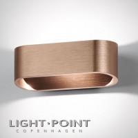 light point aura led wall lamp rose gold