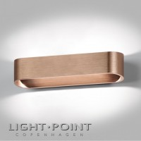 light point aura w2 led wall lamp rose gold