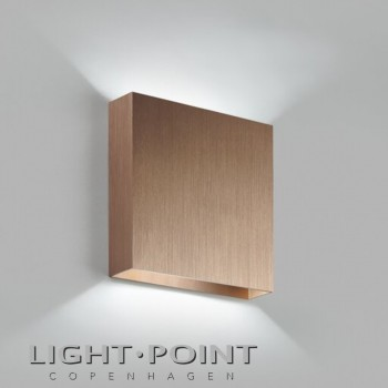 light point compact w1 led wall lamp rose gold