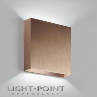 light point compact w2 led wall lamp rose gold