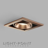 light point ghost 1 led recessed spot light rose gold