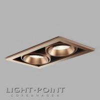 light point ghost 2 led recessed spot light rose gold