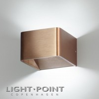 light point mood 1 led wall lamp rose gold