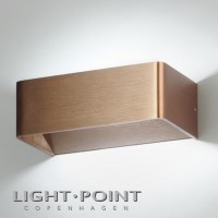 light point mood 2 led wall lamp rose gold