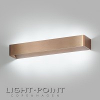 light point mood 3 led wall lamp rose gold