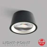 light point optic out 1+ black white rim lamp ip54