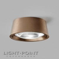 light point optic out 1+ led spot ceiling lamp rose gold