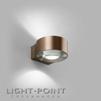 light point orbit mini up down led wall lamp rose gold