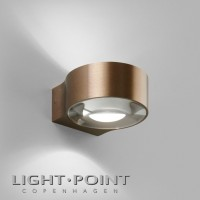 light point orbit w1 up down led wall lamp rose gold