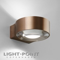 light point orbit w2 up down led wall lamp rose gold