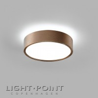 light point shadow 1 led ceiling lamp rose gold