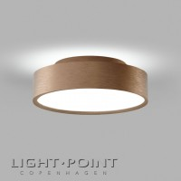 light point shadow 2 led ceiling lamp rose gold
