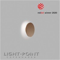 light point soho w1 led wall lamp rose gold