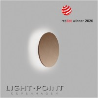 light point soho w2 led wall lamp rose gold