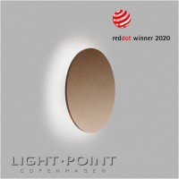 light point soho w3 led wall lamp rose gold