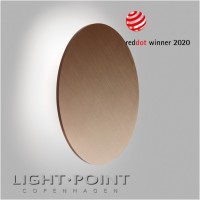 light point soho w5 led wall lamp rose gold