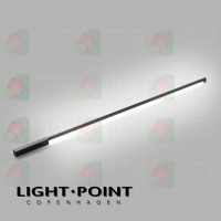 light point stripe cw s1500 black led ceiling light wall lamp
