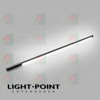light point stripe cw s1500 black led ceiling light wall lamp
