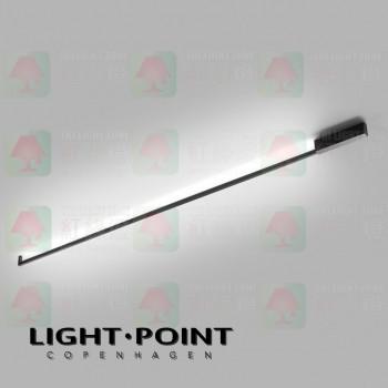 light point stripe cw s2000 black led ceiling light wall lamp