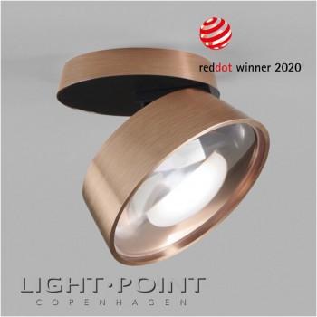 light point vantage 1+ ceiling spot light led rose gold