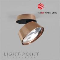 light point vantage 1 ceiling spot light led rose gold