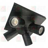 fl-1212-gu10-sm-4-bk black surface mount spot