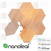 nanoleaf element hexagon 7 panels wood