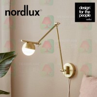 nordlux contina wall lamp brass