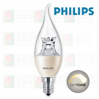 Philips candle e14 dimtone ba38 可調光拉尾膽