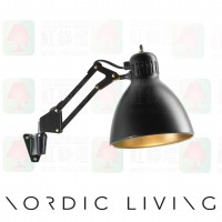 nordic living Archi-W1-wall-mounted_blackgold_wall lamp